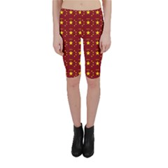 Chinese New Year Pattern Cropped Leggings