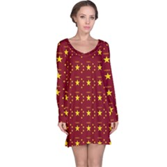 Chinese New Year Pattern Long Sleeve Nightdress