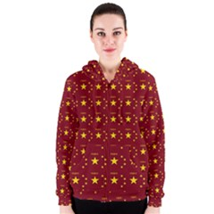 Chinese New Year Pattern Women s Zipper Hoodie