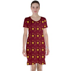 Chinese New Year Pattern Short Sleeve Nightdress