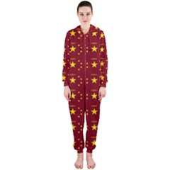 Chinese New Year Pattern Hooded Jumpsuit (Ladies)