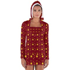 Chinese New Year Pattern Women s Long Sleeve Hooded T-shirt