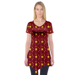 Chinese New Year Pattern Short Sleeve Tunic