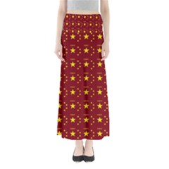 Chinese New Year Pattern Maxi Skirts