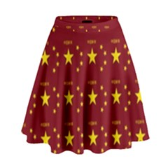 Chinese New Year Pattern High Waist Skirt