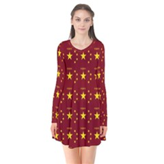 Chinese New Year Pattern Flare Dress