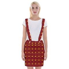 Chinese New Year Pattern Suspender Skirt