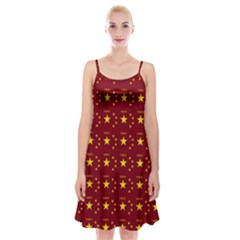Chinese New Year Pattern Spaghetti Strap Velvet Dress