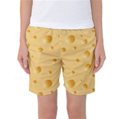 Seamless Cheese Pattern Women s Basketball Shorts