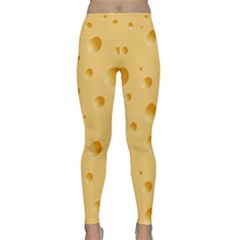 Seamless Cheese Pattern Classic Yoga Leggings