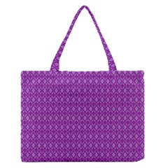 Surface Purple Patterns Lines Circle Medium Zipper Tote Bag