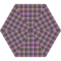 Tartan Fabric Colour Purple Mini Folding Umbrellas by Jojostore