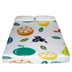 Fruit Lime Fitted Sheet (king Size) by Jojostore