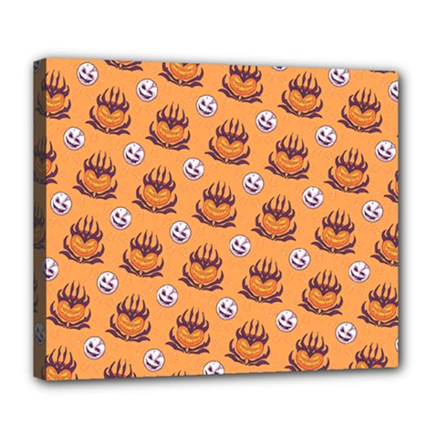 Helloween Moon Mad King Thorn Pattern Deluxe Canvas 24  X 20