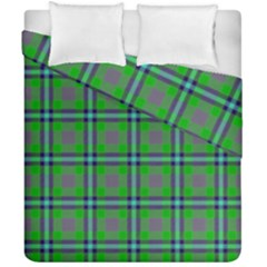 Tartan Fabric Colour Green Duvet Cover Double Side (california King Size) by Jojostore
