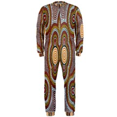 Aborigianal Austrialian Contemporary Aboriginal Flower Onepiece Jumpsuit (men)