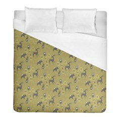 Animals Deer Owl Bird Grey Duvet Cover (full/ Double Size) by Jojostore