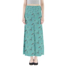 Animals Deer Owl Bird Grey Bear Blue Maxi Skirts
