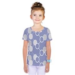 Circle Blue Line Grey Kids  One Piece Tee