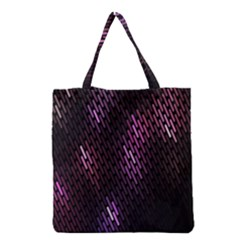 Fabulous Purple Pattern Wallpaper Grocery Tote Bag by Jojostore