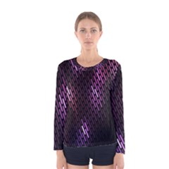 Fabulous Purple Pattern Wallpaper Women s Long Sleeve Tee by Jojostore