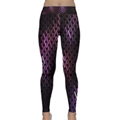 Fabulous Purple Pattern Wallpaper Classic Yoga Leggings