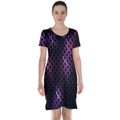 Fabulous Purple Pattern Wallpaper Short Sleeve Nightdress by Jojostore