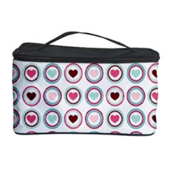 Circle Love Heart Purple Pink Blue Cosmetic Storage Case by Jojostore