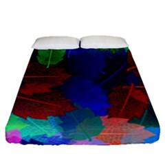 Floral Flower Rainbow Color Fitted Sheet (queen Size)