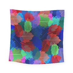 Floral Flower Rainbow Color Square Tapestry (small)