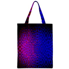 Geometri Purple Pink Blue Shape Pattern Flower Zipper Classic Tote Bag