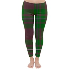 Cardney Tartan Fabric Colour Green Classic Winter Leggings by Jojostore