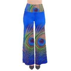 Blue Peacock Feather Pants