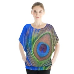 Blue Peacock Feather Blouse
