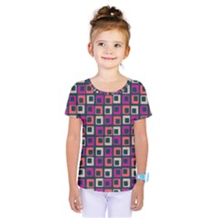 Abstract Squares Kids  One Piece Tee