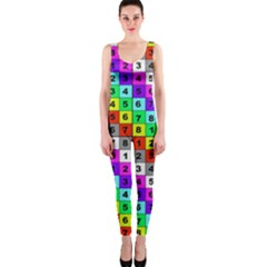 Mapping Grid Number Color Onepiece Catsuit
