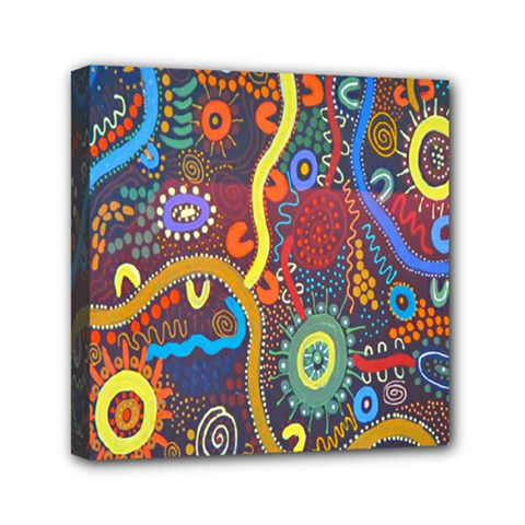 Mbantua Aboriginal Art Gallery Cultural Museum Australia Mini Canvas 6  X 6  by Jojostore