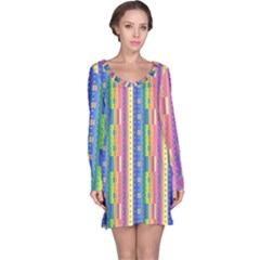 Psychedelic Carpet Long Sleeve Nightdress by Jojostore