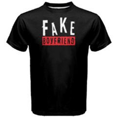 Fake Boyfriend - Men s Cotton Tee by FunnySaying