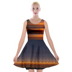Sunset Velvet Skater Dress by SusanFranzblau