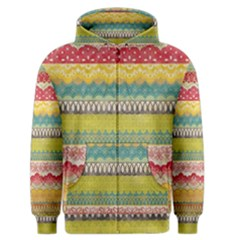 Colorful Bohemian Men s Zipper Hoodie by Brittlevirginclothing