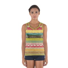 Colorful Bohemian Women s Sport Tank Top  by Brittlevirginclothing
