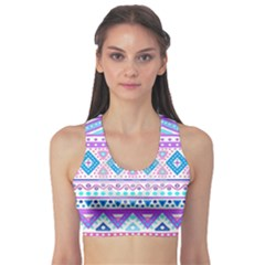 Tribal Pastel Hipster  Sports Bra by Brittlevirginclothing