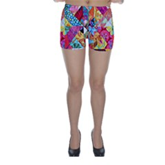 Colorful Hipster Classy Skinny Shorts by Brittlevirginclothing