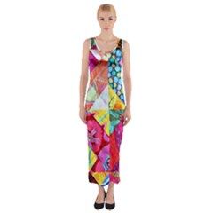 Colorful Hipster Classy Fitted Maxi Dress
