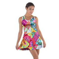 Colorful Hipster Classy Cotton Racerback Dress by Brittlevirginclothing