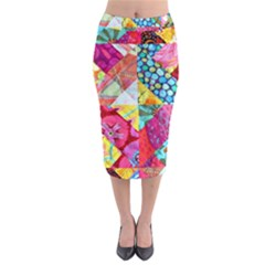 Colorful Hipster Classy Midi Pencil Skirt by Brittlevirginclothing