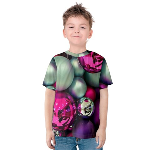 Christmas Garlands Kids  Cotton Tee by Brittlevirginclothing