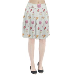 Cute Cakes Pleated Skirt by Brittlevirginclothing
