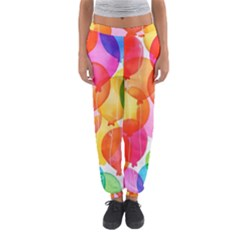 Rainbow Balloon Women s Jogger Sweatpants by Brittlevirginclothing